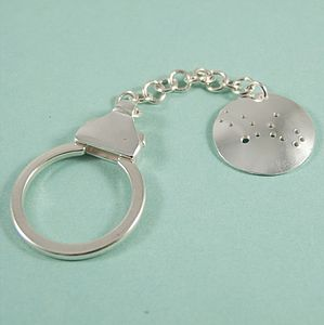 Sterling Silver Constellation Key Ring - women's accessories
