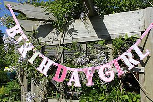 Birthday Girl Bunting - children's room accessories