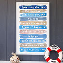 Personalised Coastal Seaside Print
