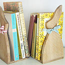 Pair Of Oak Bunny Bookends