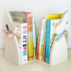 Pair Of Bunny Bookends - gifts for children
