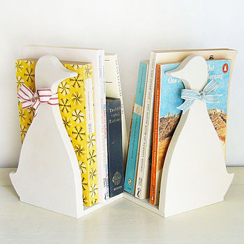 Pair Of Duck Bookends - Limewhite