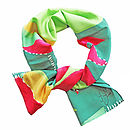 Green Tea Silk Scarf