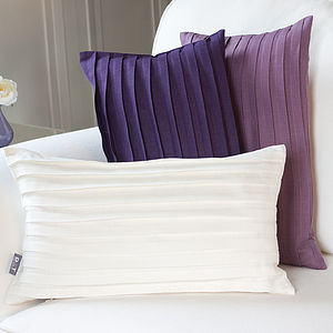 Pleated Linen Cushion Cover - living room