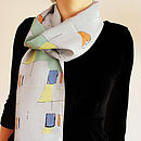 1950's Inspired Silk Scarf
