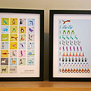 Animal Alphabet And Numbers Print