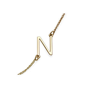 Personalised Initial Sideway Necklace