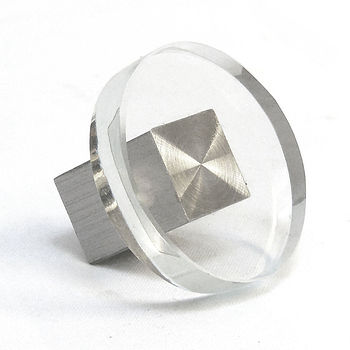 Contemporary Clear Glass Round Cupboard Door Knobs