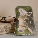 Donkey And Cat Handmade Glasses Case