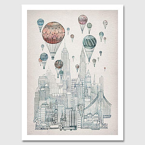 Voyages Over New York Art Print - canvas prints & art