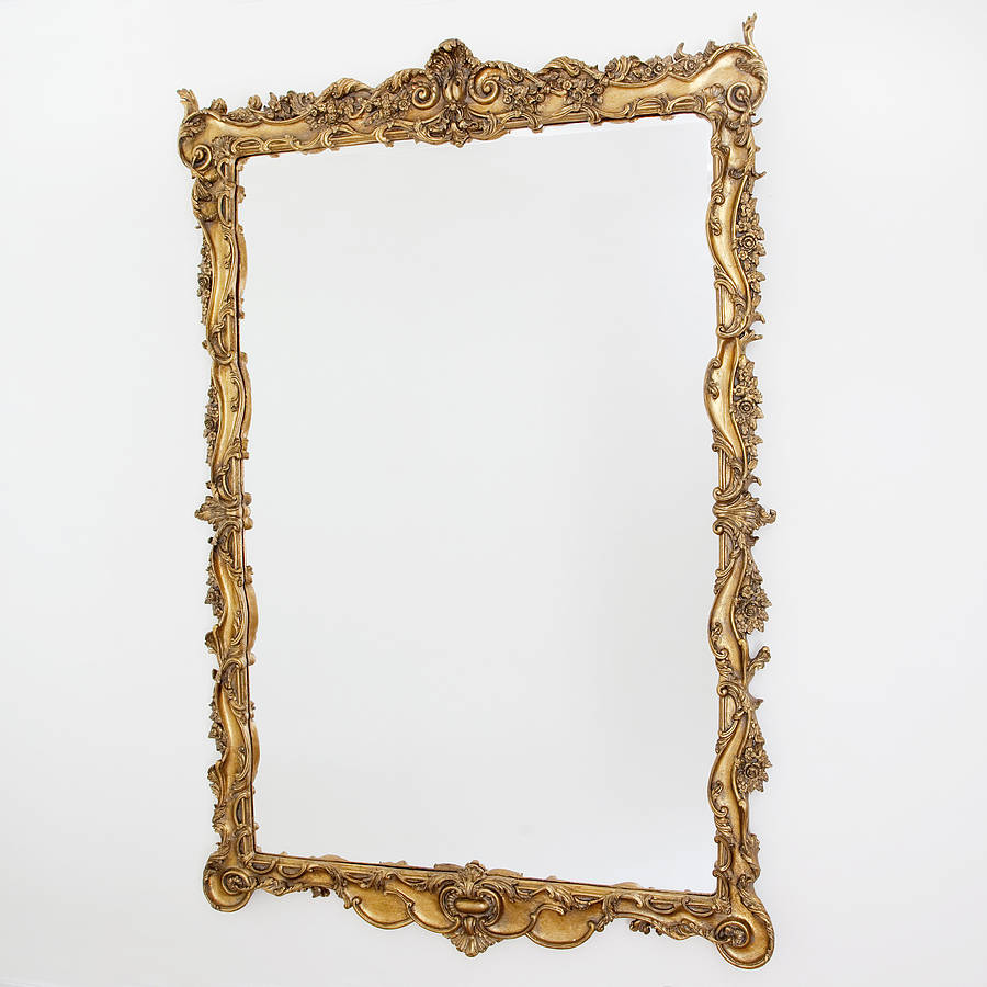 Stunning large ornate gold mirror by decorative mirrors for Decorative mirrors