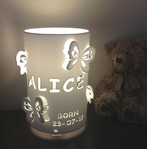 Personalised Butterfly Table Lamp - children's lights