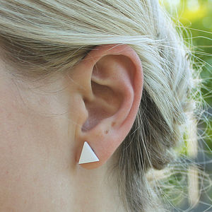 Triangle Stud Earrings - earrings