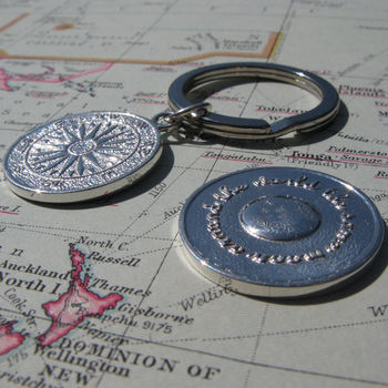Silver Travel Key Ring