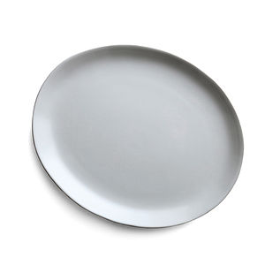 Oval Stoneware Dinner Plate - tableware