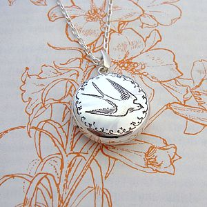 Swallow Locket - necklaces & pendants