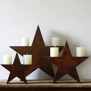 Rusty Star Decorations