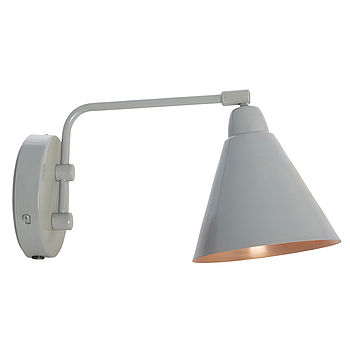 Grey And Copper Wall Lamp