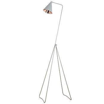 Grey And Copper Floor Lamp