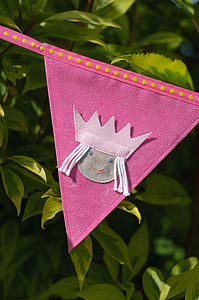 Personalised Princess Bunting - children's decorative accessories