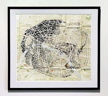Paris Map Portrait Print
