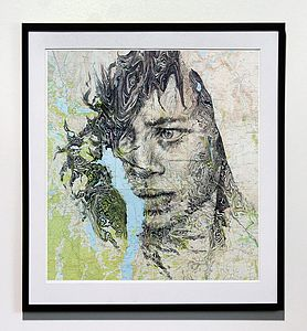 Windermere Map Portrait Print - contemporary art