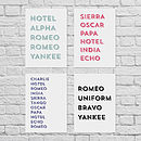 Personalised Phonetic Alphabet Print