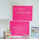 Neon Chalkboard Wall Sticker