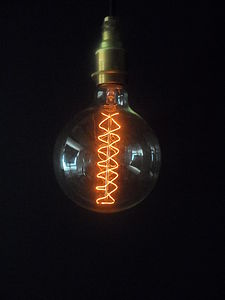 Vintage Spiral Globe G125 Bulb - lighting