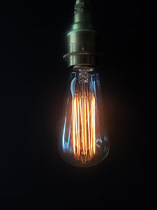 Vintage Small Edison Lightbulb - lighting