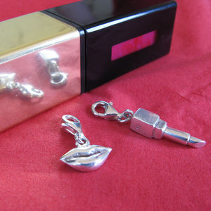 Lips Are For Kissing Charm Set - charm jewellery