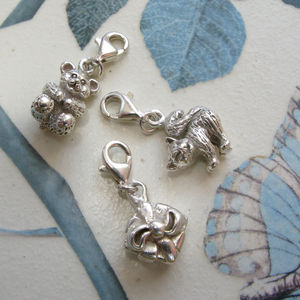 Silver Charms For Girls - flower girl gifts