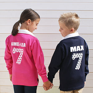 Personalised Childrens Rugby Shirt - clothing