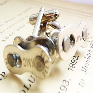 Bike Chain Cufflinks - women's jewellery