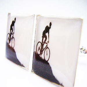 Mountain Bike Cufflinks - cufflinks