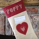 personalised letter to santa christmas stocking, stone
