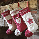 personalised christmas pocket stockings