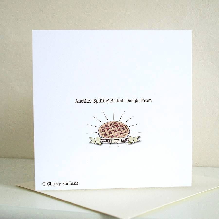 Cheeky little sprout christmas card by cherry pie lane back of card m4hsunfo
