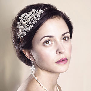 Handmade Heather Wedding Headpiece - personalised jewellery