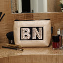 Personalised Frosted Almond Cosmetic Pouch