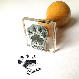 Personalised Paw Print Stamp Gift - pet-lover