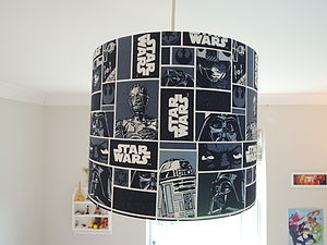 Handmade Lampshade In Star Wars Fabric - gifts for geeks