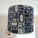 Handmade Lampshade In Star Wars Fabric