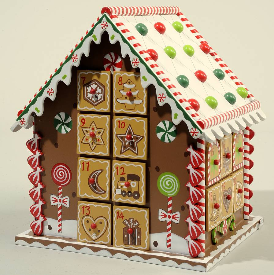 Gingerbread house advent calendar by little ella james for Advent calendar decoration
