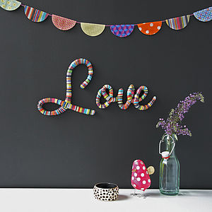'Love' Word Wall Art - decorative letters
