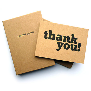 Set Of 12 Handmade Thank You Note Cards