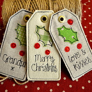 Personalised Christmas Tags - cards & wrap