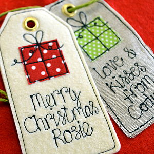 Personalised Birthday/Christmas Gift Tag - cards & wrap