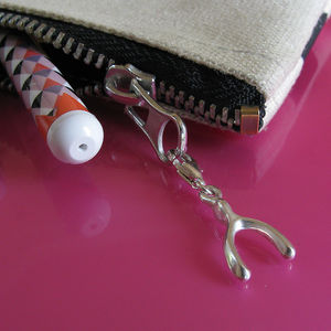 Lucky Wishbone Charm - view all sale items