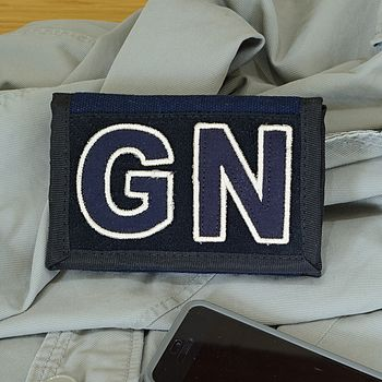 Personalised Dark Navy Wallet
